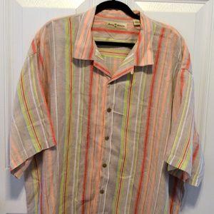 Tommy Bahama Mens Short Sleeve 100% Linen XXL